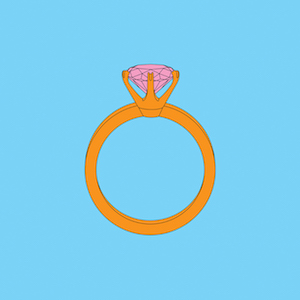 Michael Craig Martin RA Diamond ring