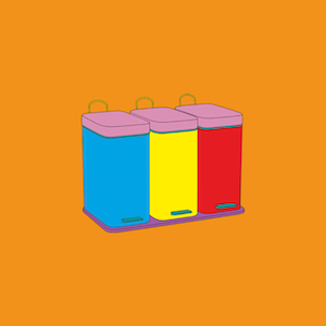 Michael Craig Martin RA Recycling bins