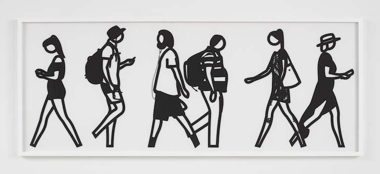 Julian Opie Walking in Melbourne No6