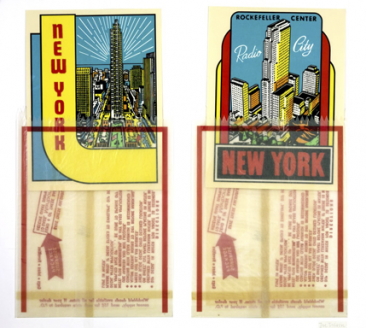 Joe Tilson RA New York Decals Screenprint & Collage 91x102cm
